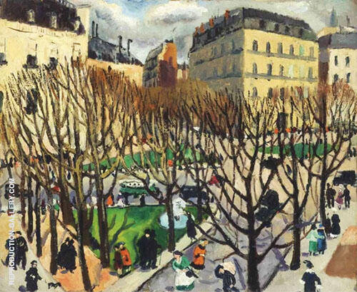 Paris Square 1925 Painting By Christopher Wood - Reproduction Gallery