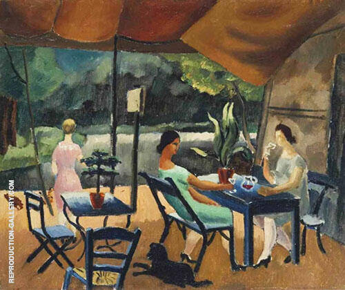 Restaurant at St Cloud 1925 Painting By Christopher Wood