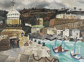 St Ives Cornwall 1928 By Christopher Wood