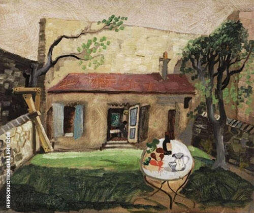 The Artist's Cottage Paris 1930 Painting By Christopher Wood