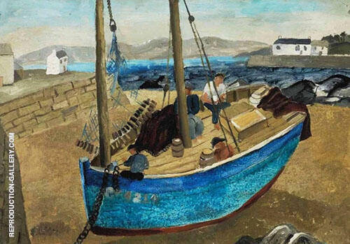 The Blue Boat 1929 Painting By Christopher Wood - Reproduction Gallery