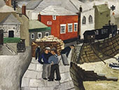 The Red Cottage Mousehole Cornwall 1928 By Christopher Wood