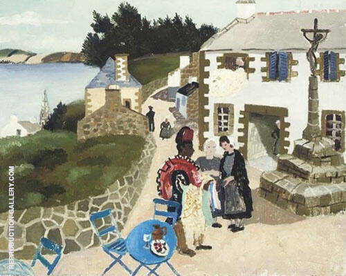 The Rug Seller Treboul 1930 By Christopher Wood