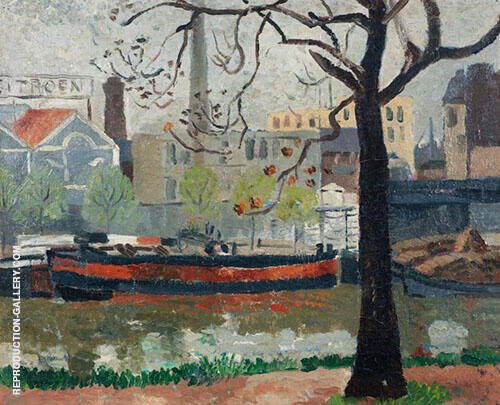 The Seine 1927 Painting By Christopher Wood - Reproduction Gallery