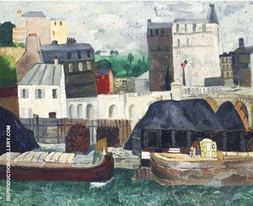 The Seine at Passy 1928 By Christopher Wood