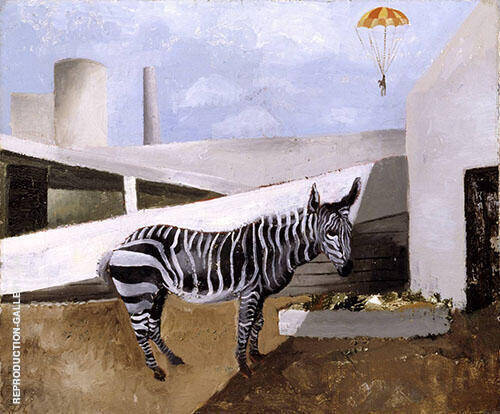 Zebra and Parachute 1930 Painting By Christopher Wood