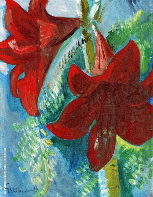 Amaryllis Painting By Isaac Grunewald - Reproduction Gallery
