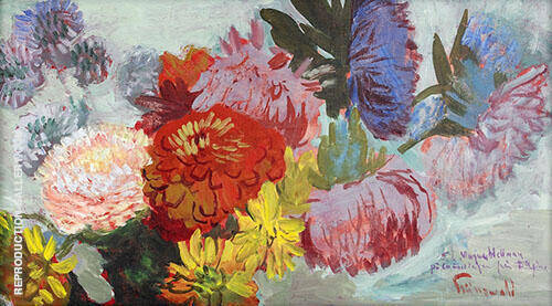 Asters Painting By Isaac Grunewald - Reproduction Gallery