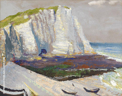 Beach with Cliffs Painting By Isaac Grunewald - Reproduction Gallery