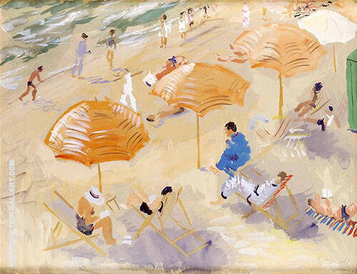 Beach Painting By Isaac Grunewald - Reproduction Gallery