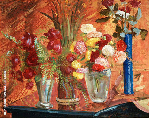 Birthday Flowers Painting By Isaac Grunewald - Reproduction Gallery