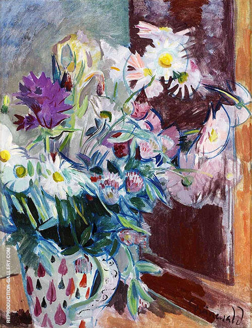 Flowers in a Jar By Isaac Grunewald