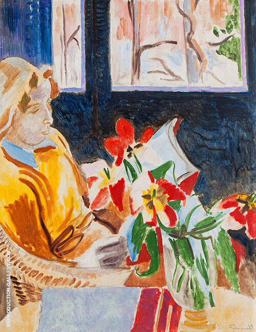 Martha at The Window By Isaac Grunewald