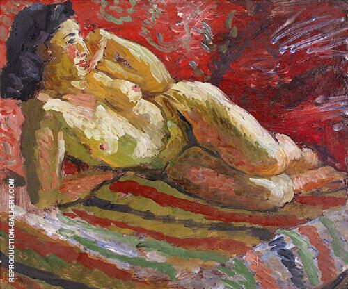 Model Lying Down By Isaac Grunewald