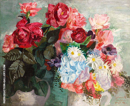 Roses Painting By Isaac Grunewald - Reproduction Gallery