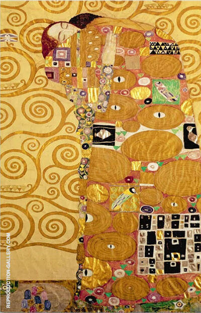Fulfillment, Stoclet Frieze By Gustav Klimt