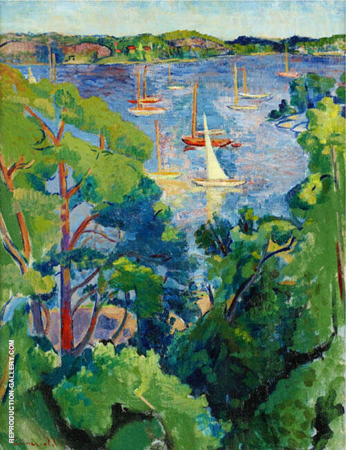 Summer View from Saltsjobaden 1942 By Isaac Grunewald