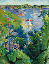 Summer View from Saltsjobaden 1942 By Isaac Grunewald