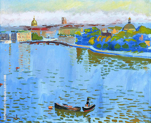 View of Strommen Stockholm 1927 By Isaac Grunewald
