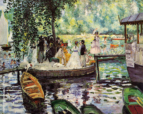La Grenouillere 1869 Painting By Pierre Auguste Renoir