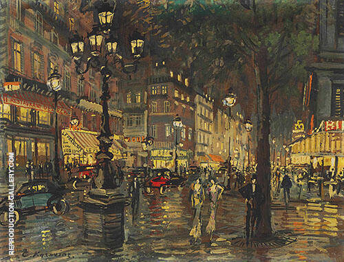 A Night in Paris By Konstantin Korovin