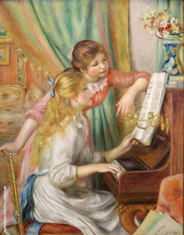 Young Girls at the Piano 1892 Painting By Pierre Auguste Renoir