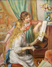 Young Girls at the Piano 1892 By Pierre Auguste Renoir