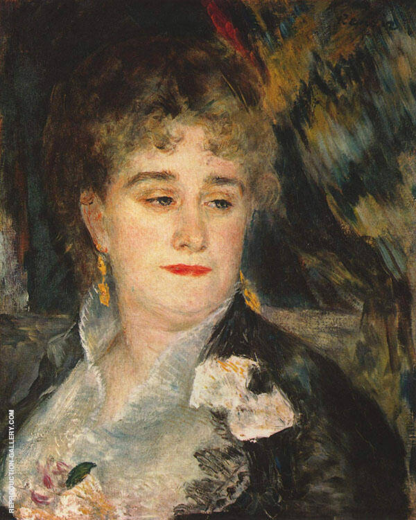 Portrait of Madame Charpentier 1877 Painting By Pierre Auguste Renoir