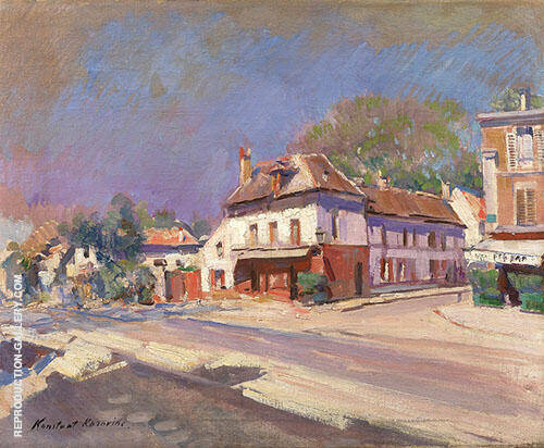 A Street in The South of France By Konstantin Korovin