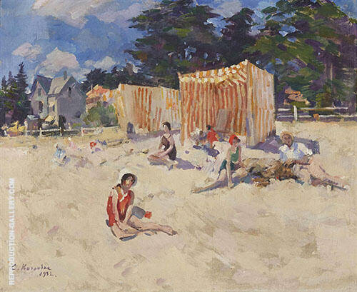 At The Beach By Konstantin Korovin