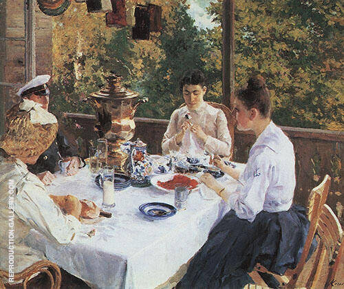 At The Tea Table 1888 By Konstantin Korovin