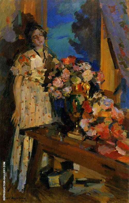 At The Window 1917 By Konstantin Korovin