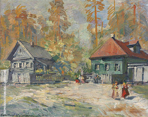 Autumn in a Russian Village By Konstantin Korovin