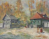 Autumn in a Russian Village By Konstantin Korovin