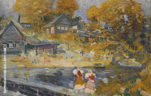 Autumn River By Konstantin Korovin