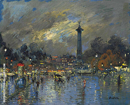 Bastille Painting By Konstantin Korovin - Reproduction Gallery