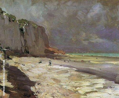 Beach at Dieppe 1890 By Konstantin Korovin