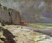Beach at Dieppe 1890 By Konstantin Korovin