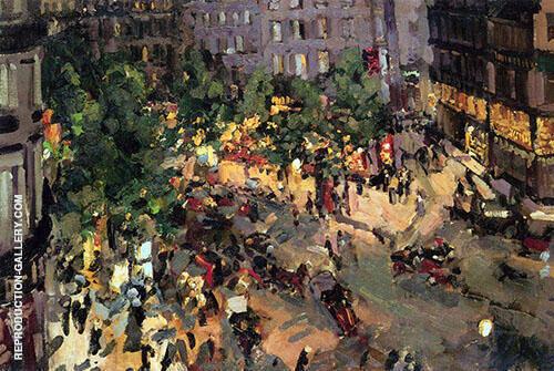 Boulevard des Capucines 1911 Painting By Konstantin Korovin