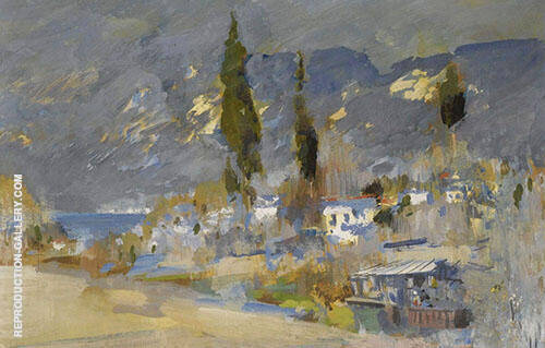 Crimean Landscape Painting By Konstantin Korovin - Reproduction Gallery