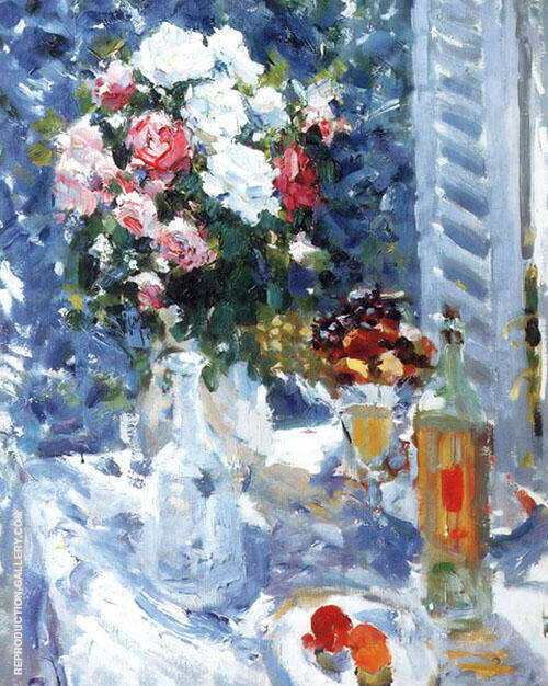 Flowers and Fruit Painting By Konstantin Korovin - Reproduction Gallery