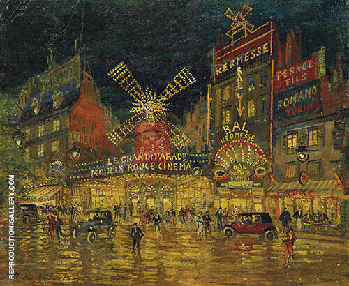 In Moulin Rouge Paris By Konstantin Korovin
