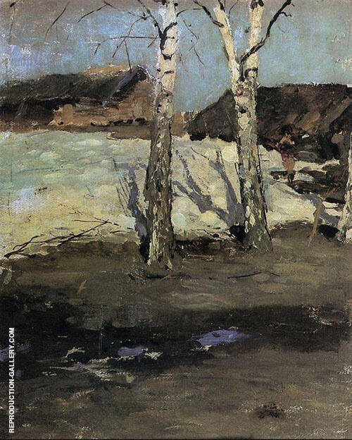Last Snow Painting By Konstantin Korovin - Reproduction Gallery