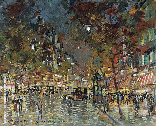 Paris at Night By Konstantin Korovin