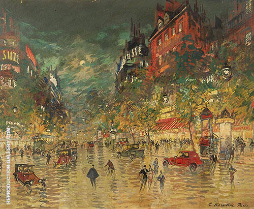 Paris by Night By Konstantin Korovin