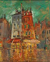 Paris Rue de Venise Nightime By Konstantin Korovin