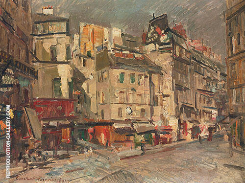 Paris Street View at Dusk By Konstantin Korovin