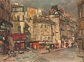 Paris Street View at Dusk By Konstantin Korovin