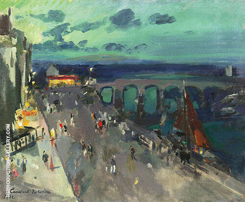 Seafront Promenade Painting By Konstantin Korovin - Reproduction Gallery