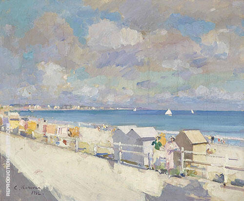The Shore at Deauville Painting By Konstantin Korovin